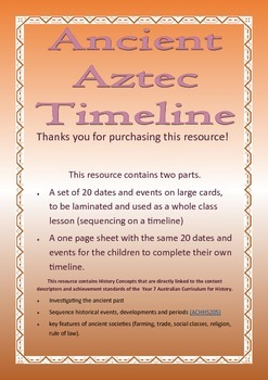Ancient Aztecs Timeline