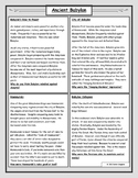 Ancient Babylon: Reading and Worksheet