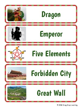 Ancient China Word Wall