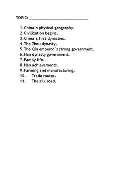 Ancient China PBL