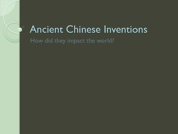 Ancient China Achievements PowerPoint