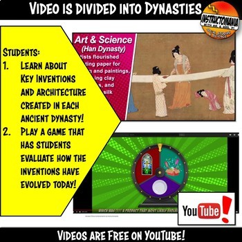 Ancient China Achievements YouTube Video Graphic Organizer Notes Doodle Style