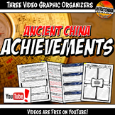 Ancient China Achievements YouTube Video Graphic Organizer