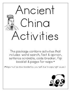 Ancient China Activities and Flip Book