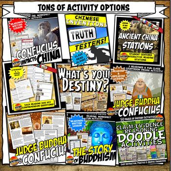 Ancient China Complete Unit Plan Lesson & Activities Bundle History 5-8