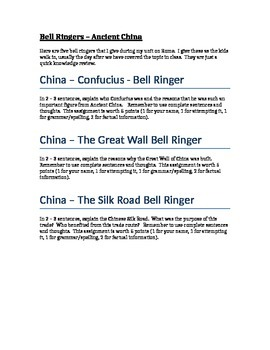 Ancient China Bell Ringers