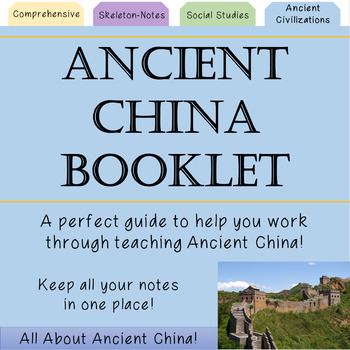 Ancient China Booklet