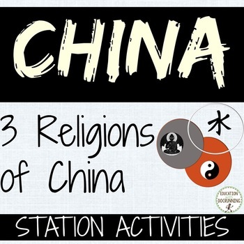 China Buddhism, Taoism and Confucianism Comparison Station Activities