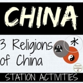 China Buddhism, Taoism and Confucianism Comparison Station Activities UPDATED