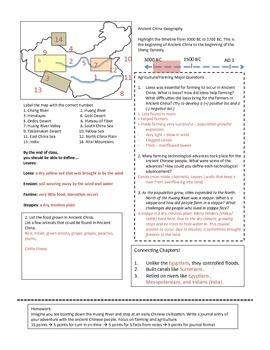 Ancient China Civilization Unit Handouts & Worksheets   TpT