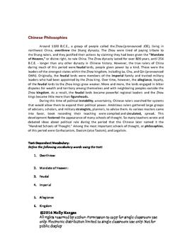 Ancient China Close Read Passage