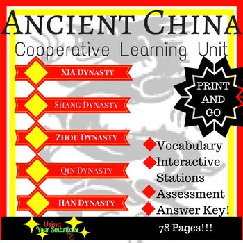 Ancient China - Cooperative Learning Stations (EDITABLE)