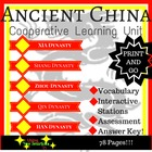 Ancient China - Cooperative Learning Stations