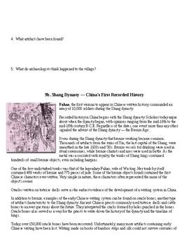 Ancient China Cultural Packet