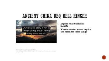 Ancient China DBQ Bell Ringers