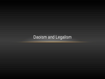 Ancient China Daoism and Legalism