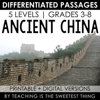Ancient China Projects & Worksheets | Teachers Pay Teachers
