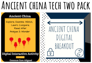 Ancient China Digital Breakout and Hyperdoc Two Pack