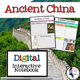 Ancient China Digital Interactive Notebook for Google Drive