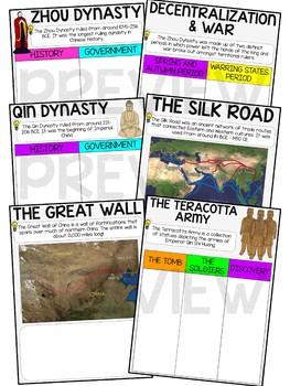 Ancient China Digital Interactive Notebook for Google Drive