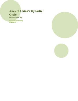 Ancient China, Dynastic Cycle