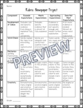 Ancient China Activity / Project - Create a Newspaper Project