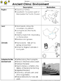 Ancient China: Environment Study Guide Outline - Environment