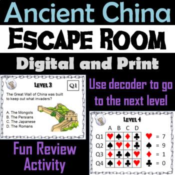 Ancient China: Escape Room - Social Studies