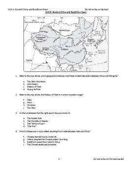 Ancient China Exam