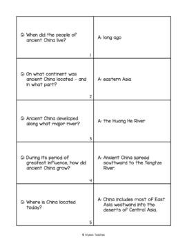 Ancient China Flash Cards