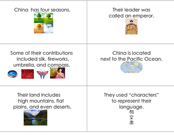 Ancient China Flash Cards FREE  Special Education & Autism