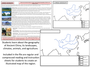 Ancient China - Geography & Mapmaking Homework