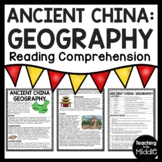 Ancient China Geography Reading Comprehension Worksheet