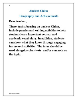 Ancient  China: Geography and Achievements