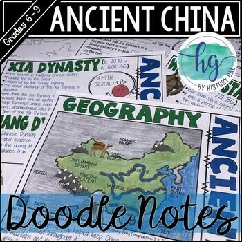 Ancient China Graphic Notes {Xia,Shang,Zhou,Qin,Han}