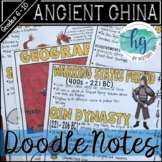 Ancient China Doodle Notes {Xia,Shang,Zhou,Qin,Han}