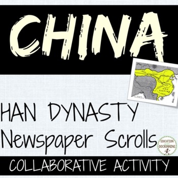 China Han Dynasty Quick and Easy Newspaper Activity (great for centers)
