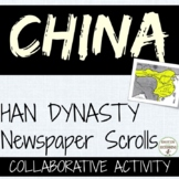 China Han Dynasty Quick and Easy Newspaper Activity Editable Rubric UPDATED