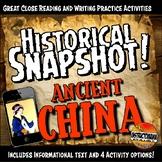 Ancient China Historical Snapshot Close Reading Investigation