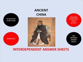 Ancient China:  Interdependent Answer Sheets Activity