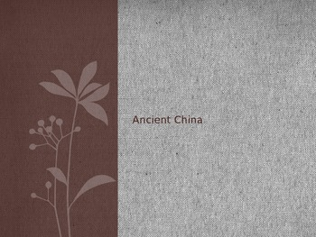 Ancient China Introduction