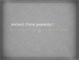 Ancient China Jeopardy