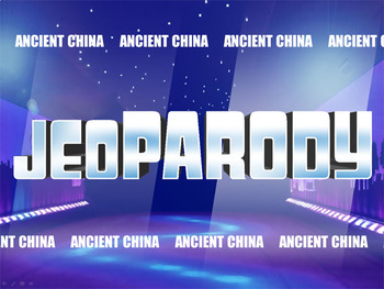Ancient China: Jeopardy Game