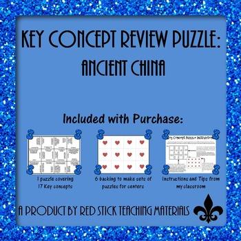 Ancient China Key Concepts Puzzle
