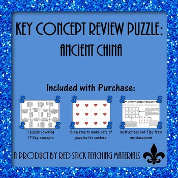 Ancient China Key Concepts Puzzle