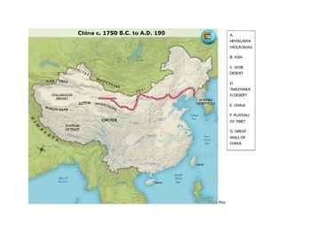 Ancient china map by middle school world history tpt ancient china map gumiabroncs Images