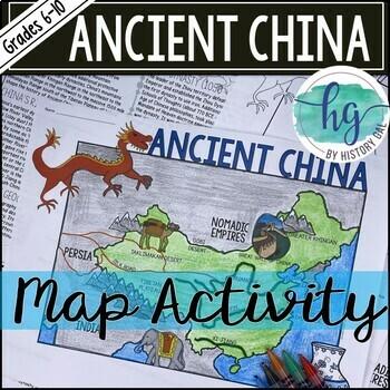 Ancient China Map Activity by History