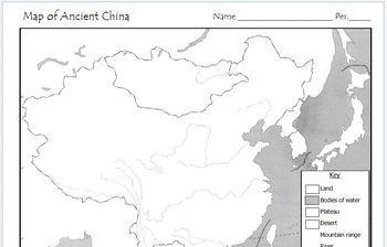 Ancient China   Map Activity by Mr C shop | Teachers Pay Teachers
