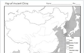 labeled map of ancient china Ancient China Map Activity By Mr C Shop Teachers Pay Teachers labeled map of ancient china