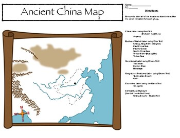 Ancient China Map Activity with Answer Key and Map Quiz!